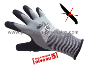 Gants anti coupure - niveau 5 - double enduction (la paire)
